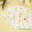 貓咪家族透明手帳貼紙 6張入 手帳 筆記本 透明貼紙