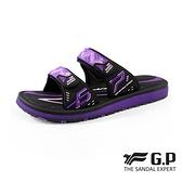 G.P(女)簡約織帶風格雙帶拖鞋 女鞋-紫(另有黑白.黑桃)