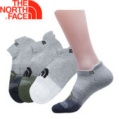 【The North Face 運動襪 三雙組《白灰/藍綠》】2XY4/運動襪★滿額送