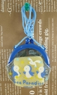 【震撼精品百貨】San-X動物家族_藍企鵝~珠扣零錢包附繩-藍