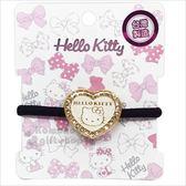 〔小禮堂〕Hello Kitty 造型彈力髮圈《金.大臉》髮束.髮飾 8021735-67709