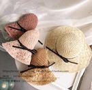 韓版手工編織草帽 女款夏季度假防曬遮陽帽