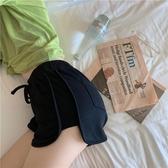短褲 居家休閒顯腿長純色短褲 高腰鬆緊包臀運動熱褲 休閒短褲