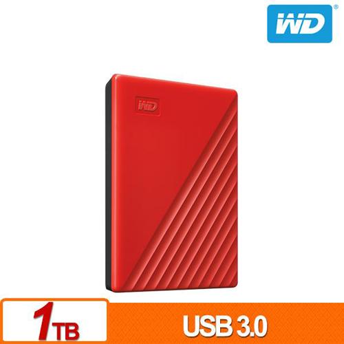 (2019新款) WD My Passport 1TB 紅色 2.5吋 USB3.0 外接硬碟 WDBYVG0010BRD-WESN