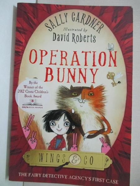 【書寶二手書T3/兒童文學_HHY】Operation Bunny_Sally Gardner