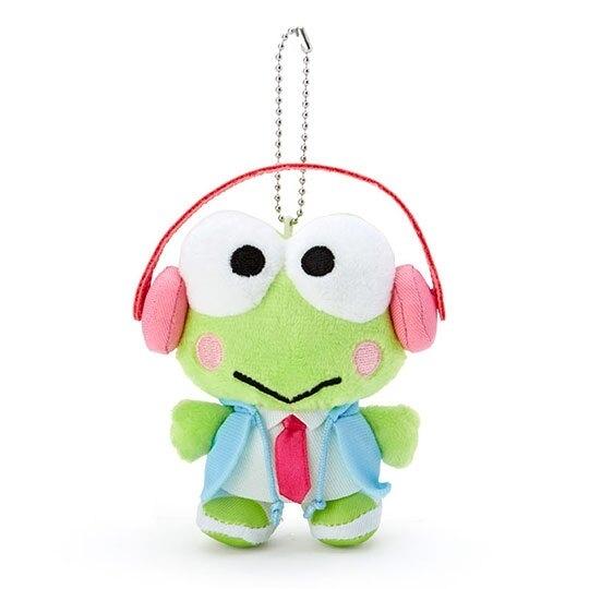 小禮堂 大眼蛙 絨毛吊飾 玩偶吊飾 鑰匙圈 (綠 俏皮偵探) 4550337-43089