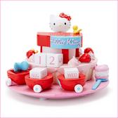 asdfkitty可愛家☆KITTY草莓鋼琴蛋糕造型萬年曆/裝飾品/擺飾-日本正版商品