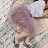 童裝春夏新款小童蓬蓬裙女童紗裙半身裙寶寶公主網紗短裙 【販衣小築】