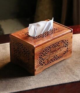 緬甸花梨木抽紙盒桌面面紙盒
