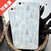 iphone6s 6splus 杉樹水彩文青文藝淡雅軟殼手機殼手機套【娜娜香水美妝】