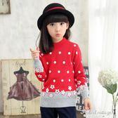 女童套頭圓領加厚毛衣中大童韓版保暖打底衫兒童針織衫外套童裝潮