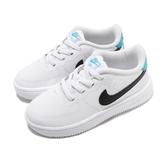 Nike 休閒鞋 Force 1 18 TD 白 藍 Air Force 免綁鞋帶 童鞋 小童鞋【ACS】 905220-105
