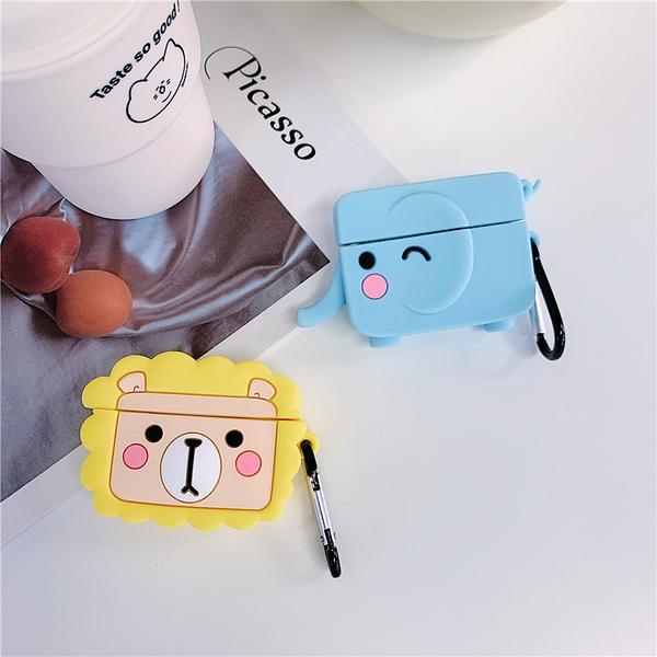 Airpods Pro 專用 台灣發貨 [ 獅子和大象 ] 藍芽耳機保護套 蘋果無線耳機保護