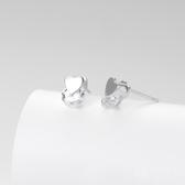 耳環 925純銀鑲鑽-愛心造型生日情人節禮物女飾品73hk1【時尚巴黎】