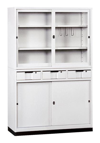 【 IS空間美學】H414鐵櫃(中3抽)