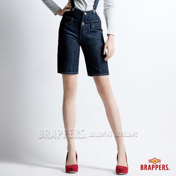 BRAPPERS 女款 女吊帶系列-女用合身吊帶短褲-水洗藍