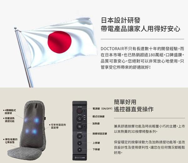 【DOCTORAIR】 3D按摩球紓壓椅墊 LITE MS03 經銷商 公司貨