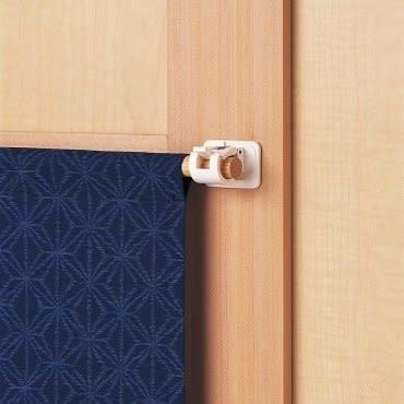 日本LEC黏貼式窗簾桿專用掛勾3包6枚組