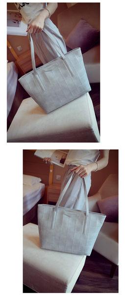 歐美潮流托特包大容量簡約大包包休閑單肩手提包..四色..流行線