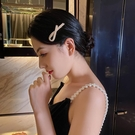髮飾 珍珠蝴蝶結髪夾女時尚氣質仙女邊夾劉海夾簡約個性網紅髪飾頭飾【快速出貨八折鉅惠】