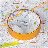 60高清球面放大鏡文鎮鏡饅頭鏡 鎮紙放大鏡 閱讀報紙圖書地圖10倍『摩登大道』