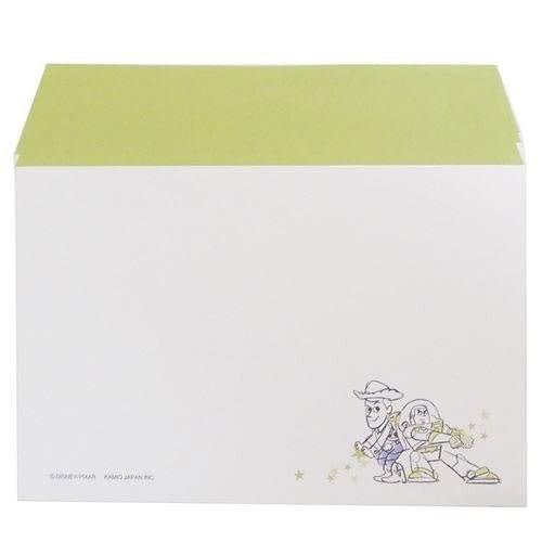 DISNEY 玩具總動員日本製極簡童趣信紙組S(好夥伴綠)★funbox★KAMIO_KM08522