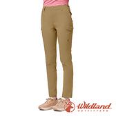 【wildland 荒野】女 彈性CORDURA 抗UV功能長褲『小麥色』0A91337 戶外 休閒 運動 吸濕 排汗 快乾