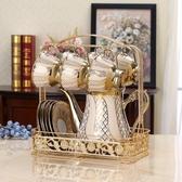 杯架 不褪色不銹鋼杯架水杯掛架置物架創意馬克杯茶杯咖啡杯架子收納架 暖心生活館