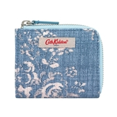 【Cath kidston】WASHED ROSE 拉鍊卡夾零錢包
