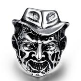 鈦鋼戒指 人頭-歐美風格另類潮流生日情人節禮物男飾品73le179【時尚巴黎】