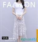 夏裝2020新款連身裙洋裝洋裝兩件套女套裝裙洋氣很仙小清新時尚碎花半身裙 OO11919【科炫3c】
