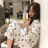 月子服   純棉產后產婦哺乳喂奶衣孕婦睡衣外穿韓版家居服