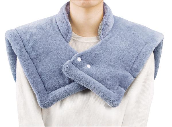 贈日本快樂羊暖暖包5片+三樂事SP1003/MHP1010裝暖暖肩頸雙用熱敷柔毛墊50cm*50cm可水洗◆醫妝世家◆