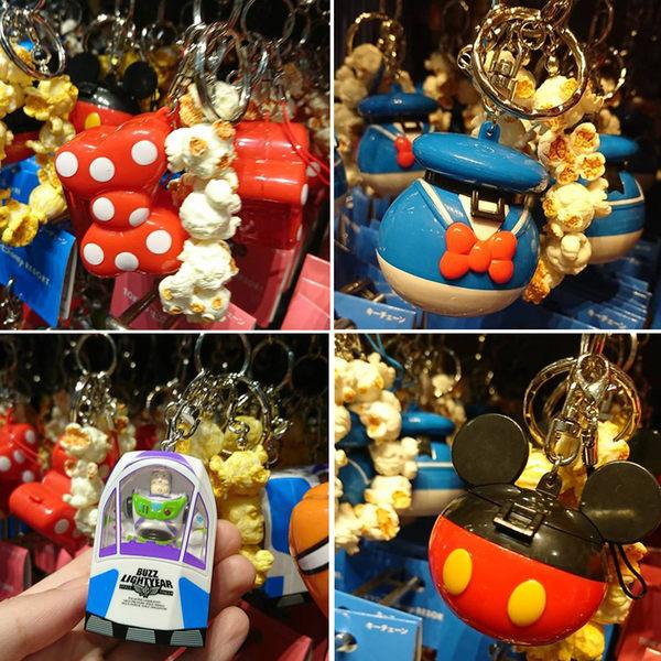 【現貨24hr出貨】東京迪士尼爆米花桶吊飾米妮/尼莫/米老鼠/唐老鴨 巴斯光年吊飾 爆米花桶鑰匙圈