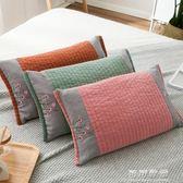 幸福密碼全棉水洗棉絎縫繡花甜蕎麥殼枕頭四季枕芯帶枕套可拆洗 可可鞋櫃