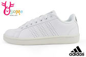 adidas板鞋 女休閒鞋 CF Advantage CL W 學生鞋 網球運動鞋O9368#白◆OSOME奧森童鞋/小朋友