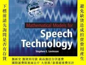 二手書博民逛書店Mathematical罕見Models Of Spoken LanguageY255562 Stephen