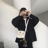 韓ins帆布包女學生斜背包繫原宿風星球手提大容量百搭側背包  宜室家居