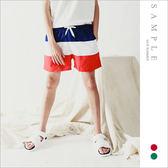 韓國製 海灘褲 3色拼接【TS20414】- SAMPLE