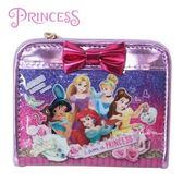 日本限定 DISNEY 迪士尼公主系列 蝴蝶結 短夾 / 錢包