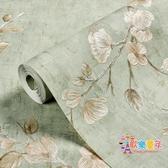 牆紙 自貼立體女孩無紡布歐式壁紙自黏臥室客廳網紅電視背景牆紙家用T 24色