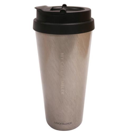 樂扣樂扣 我的溫感手提咖啡杯-銀(540ml)【愛買】