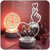 默默愛少女心小夜燈創意床頭可愛裝飾臥室台燈具插電喂奶浪漫平衡 維多原創 免運