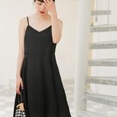 吊帶裙-雪紡純色簡約優雅氣質女背帶裙3色73rx46【巴黎精品】