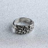 戒指 925純銀 花朵-大花寬面生日母親節禮物女開口戒73gp23[時尚巴黎]