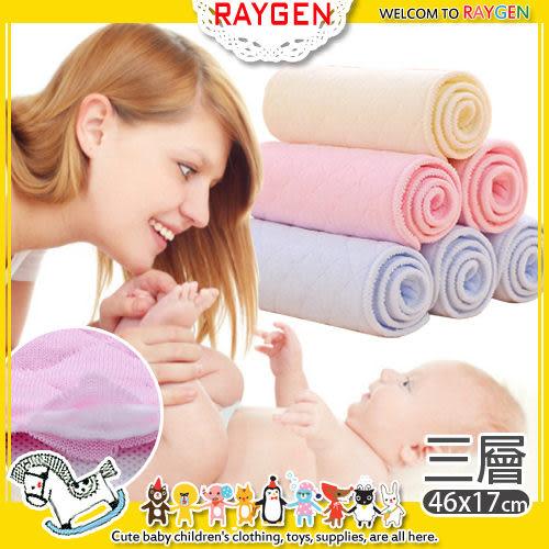尿布 三層彩色生態全棉尿布 尿墊 免摺疊嬰兒尿片