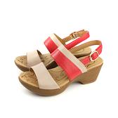 Kimo 涼鞋 厚底 女鞋 米白/橘紅 K18SF096080 no763