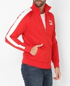 PUMA 男裝 立領外套 休閒 舒適 基本 紅白 【運動世界】 57807611