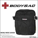 日本潮流款 休閒外出 高機能性 多夾層功能設計 小側背包 黑色 AMINAH~【BODYSAC B2751】