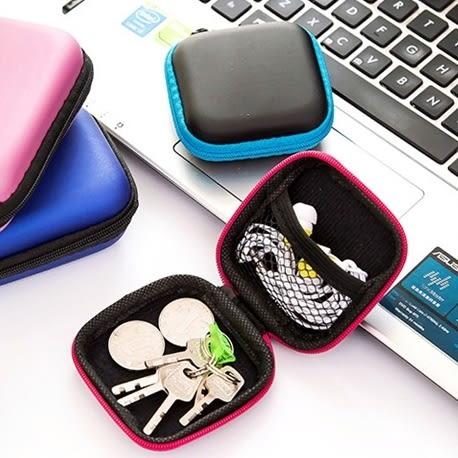 方形手機數據線充電器收納盒 耳機收納包 3C收納包-艾發現